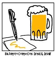 Image: Baltimore Comi-Con Drink-and-Draw