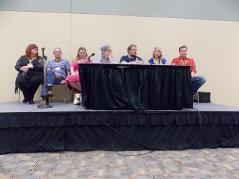 Gail Simone, Dave Gibbons, Marguerite Bennett, Paul Levitz, Adam Hughes, Christina Blanch, and Thom Zahler