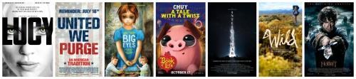 2014 movie collage