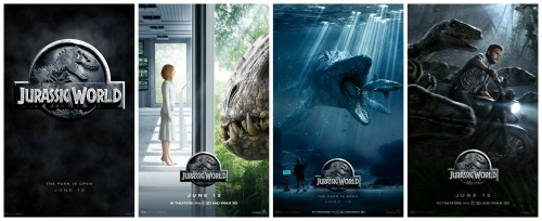 Jurassic World poster collage