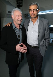 "EXCLUSIVE - Brent Spiner and Jeff Goldblum seen at the ""Independence Day Resurgence"" Global Production Event on Monday, June 22, 2015, in Albuquerque, New Mexico. (Photo by Eric Charbonneau/Invision for Twentieth Century Fox/AP Images)"