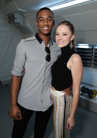 "EXCLUSIVE - Jessie Usher and Maika Monroe seen at the ""Independence Day Resurgence"" Global Production Event on Monday, June 22, 2015, in Albuquerque, New Mexico. (Photo by Eric Charbonneau/Invision for Twentieth Century Fox/AP Images)"
