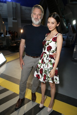 "EXCLUSIVE - Bill Pullman and Grace Huang seen at the ""Independence Day Resurgence"" Global Production Event on Monday, June 22, 2015, in Albuquerque, New Mexico. (Photo by Eric Charbonneau/Invision for Twentieth Century Fox/AP Images)"