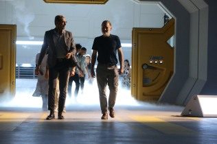 """EXCLUSIVE - Jeff Goldblum and Bill Pullman seen at the """"Independence Day Resurgence"""" Global Production Event on Monday, June 22, 2015, in Albuquerque, New Mexico. (Photo by Eric Charbonneau/Invision for Twentieth Century Fox/AP Images)"""