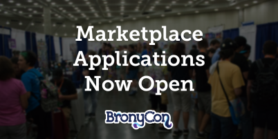 BronyCon Marketplace Apps Open