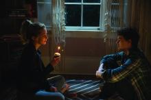 "JESSICA ROTHE as Tree and ISRAEL BROUSSARD as Carter in ""Happy Death Day."" Blumhouse (""Split,"" ""Get Out,"" ""Whiplash"") produces this original and inventive rewinding thriller in which a college student (Rothe, ""La La Land"") relives the day of her murder—with both its unexceptional details and terrifying end—until she discovers her killer's identity."