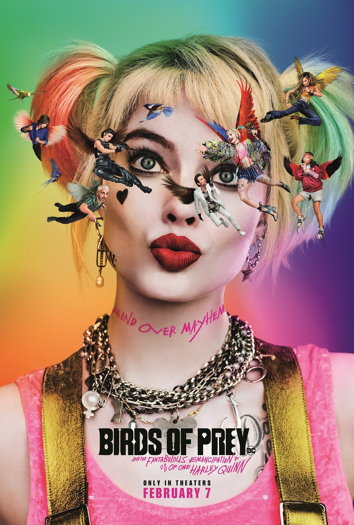 Birds Of Prey Looks Into Harley S Brain And It S Glittery Rainbow Chaos Atomic Fangirl